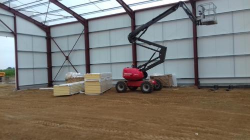 Bâtiment stockage pommes de terre à Cerisy-Buleux en cours de construction