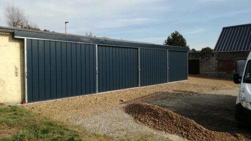 Fabrication portes sur garage existant à Bouvaincourt-sur-Bresle