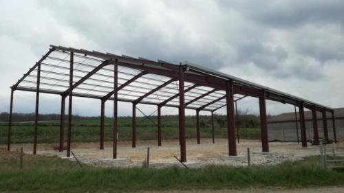 Bâtiment agricole à l'Etoile (couverture à venir avec panneaux photovoltaïques)